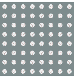 Seamless pattern with baseball balls vector image