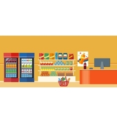 Supermarkets and Grocery Stores vector image