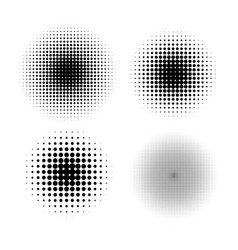 halftone circle gradient doted gradient vector image