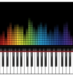 piano template vector image vector image