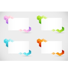 Abstract text boxes 2 vector