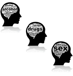 Addicted brain vector image vector image
