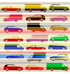 Cars and light trails on the highway vector image vector image