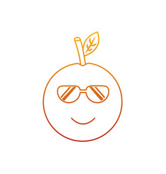 kawaii cartoon orange fruit funny character vector image vector image