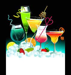 Set of drinks vector image