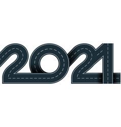 2021 year vector