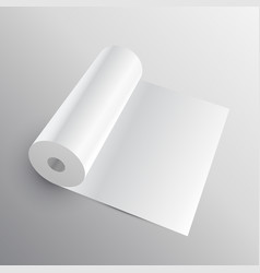 3d paper roll or fabric mockup vector