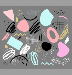 a set elements for design scrapbooking vector image