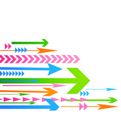 Abstract arrow vector