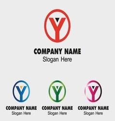 Abstract Y logo design template letter Y vector