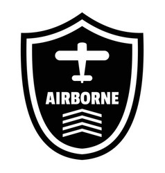 Airborne badge logo simple style vector