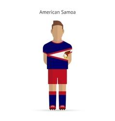 American Samoa football player Soccer uniform vector image