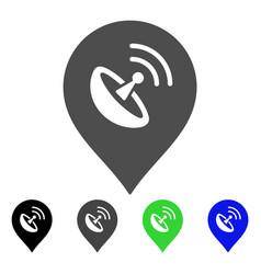 antenna marker flat icon vector image