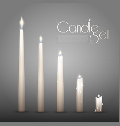 Aromatic burning candles animation set vector