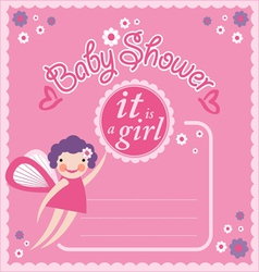 Baby Shower Party Invitation Card vector image