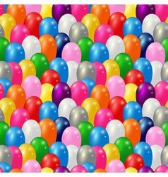 Balloon seamless pattern vector