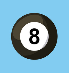 Billard ball icon vector