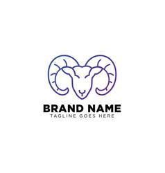 black sheep logo line design icon element isolated vector image