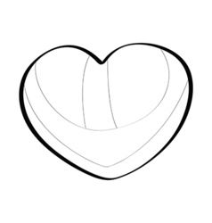 Brazilian heart lines vector