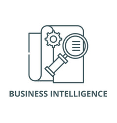 business intelligence line icon business vector image