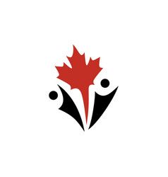 Canada canadian people logo icon vector