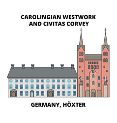 Carolingian westwork and civitas corvey germany vector