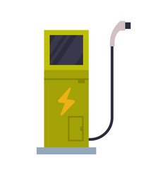 Charging station electric car eco transport vector