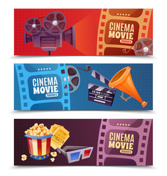 Cinema horizontal banners vector