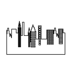 cityscape skyline isolated icon vector image