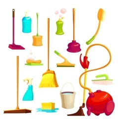 Cleaning Elements Set vector