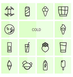 Cold icons vector