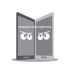 Compare smarthphones vector