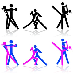 Dance icons vector