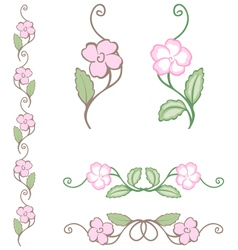 Delicate flower ornament vector