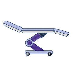 dental stretcher isolated icon vector image