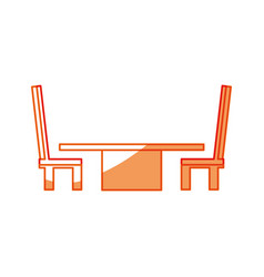 Desk with chairs vector