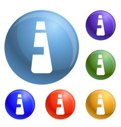 detergent plastic bottle icons set vector image