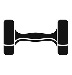 dumbell icon simple style vector image