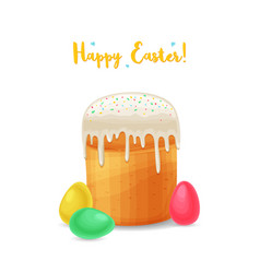 Easter holiday background cartoon style vector