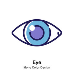 Eye mono color icon vector