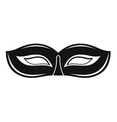 Festival mask icon simple style vector