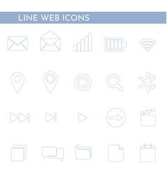 flat web icons 1 vector image
