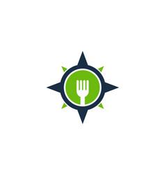 Food compass logo icon design vector