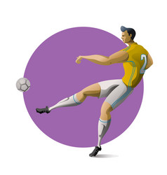 football player kicking ball vector image