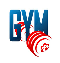 Gym and dumbbell symbol vector