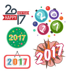 Happy new year 2017 text design creative vector