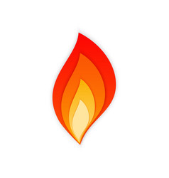 hot blaze bonfire with red and orange fire flame vector image