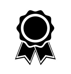 icon medal with ribbons award vector image