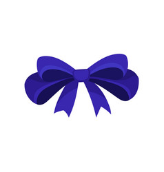 Icon of big blue bow hair accessory for girl vector