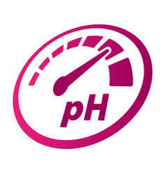 Increase of the ph perspective round icon vector